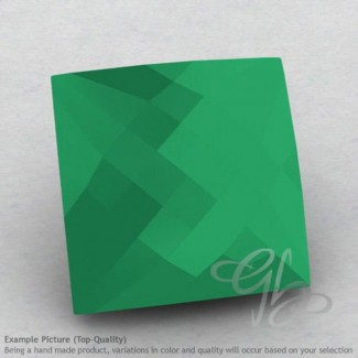 Green Onyx Square Shape Calibrated Briolettes
