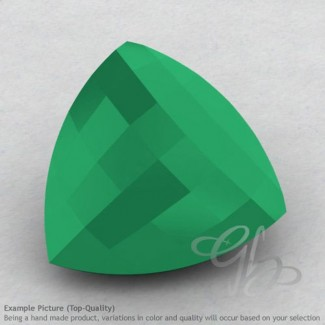 Green Onyx Trillion Shape Calibrated Briolettes