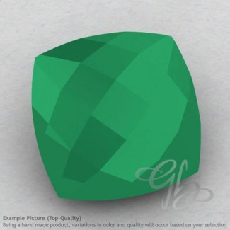 Green Onyx Square Cushion Shape Calibrated Briolettes