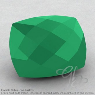 Green Onyx Cushion Shape Calibrated Briolettes