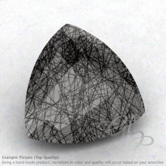Black Rutile Trillion Shape Calibrated Briolettes