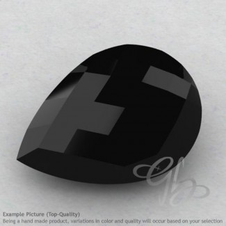 Black Spinel Pear Shape Calibrated Briolettes