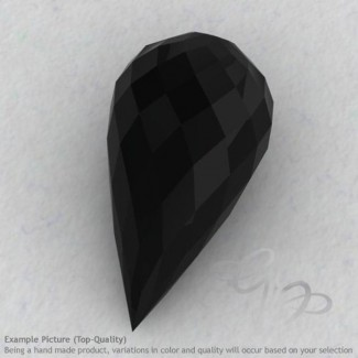 Black Spinel Drops Shape Calibrated Briolettes