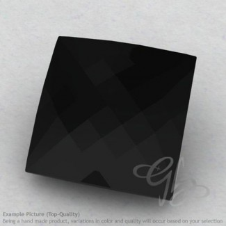 Black Spinel Square Shape Calibrated Briolettes