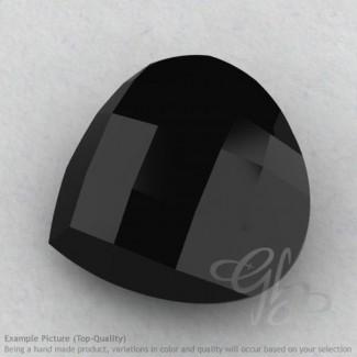 Black Spinel Heart Shape Calibrated Briolettes