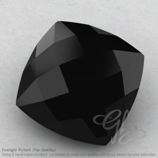 Black Spinel Square Cushion Shape Calibrated Briolettes