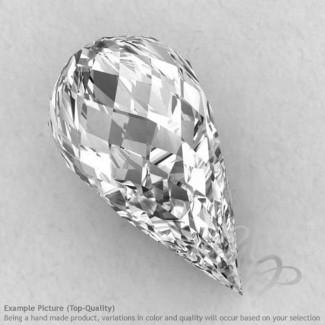 Crystal Quartz Drops Shape Calibrated Briolettes