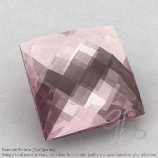 Rose Quartz Square Shape Calibrated Briolettes