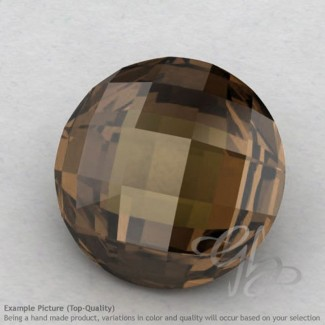 Smoky Quartz Round Shape Calibrated Briolettes