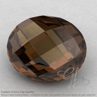 Smoky Quartz Oval Shape Calibrated Briolettes
