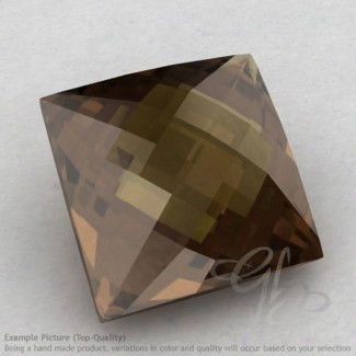 Smoky Quartz Square Shape Calibrated Briolettes