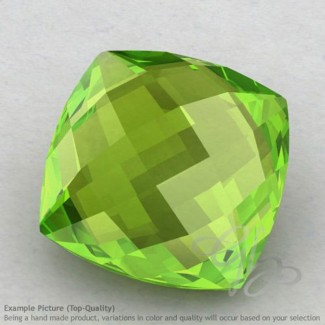 Peridot Square Cushion Shape Calibrated Briolettes