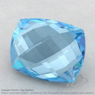 Sky Blue Topaz Cushion Shape Calibrated Briolettes
