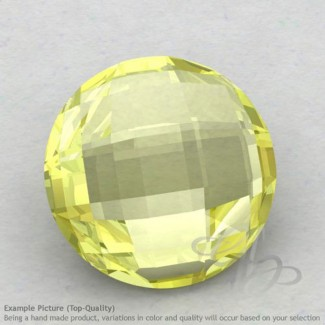 Lemon Quartz Round Shape Calibrated Briolettes