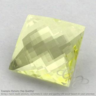 Lemon Quartz Square Shape Calibrated Briolettes