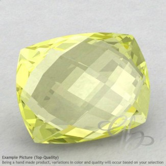 Lemon Quartz Cushion Shape Calibrated Briolettes