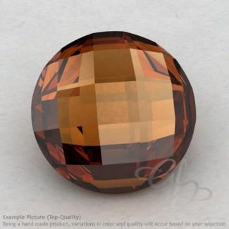 Cognac Quartz Round Shape Calibrated Briolettes