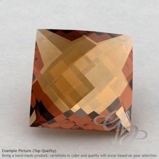 Cognac Quartz Square Shape Calibrated Briolettes