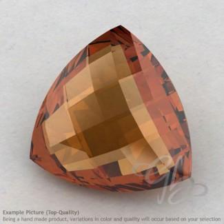 Cognac Quartz Trillion Shape Calibrated Briolettes