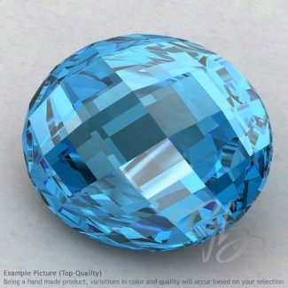 Swiss Blue Topaz Oval Shape Calibrated Briolettes