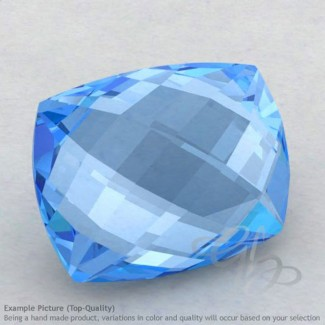 Swiss Blue Topaz Cushion Shape Calibrated Briolettes