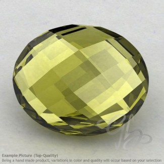 Olive Quartz Oval Shape Calibrated Briolettes