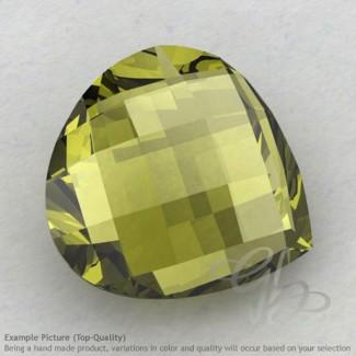 Olive Quartz Heart Shape Calibrated Briolettes