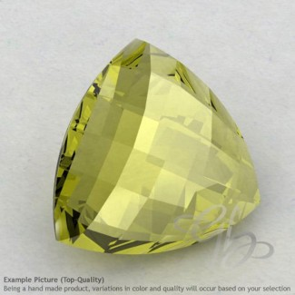Olive Quartz Trillion Shape Calibrated Briolettes