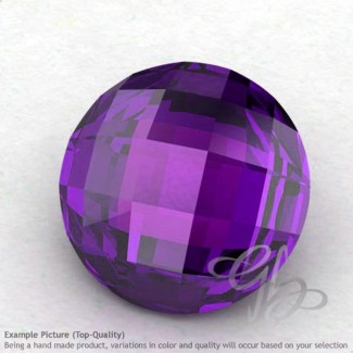 African Amethyst Round Shape Calibrated Briolettes