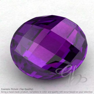 African Amethyst Oval Shape Calibrated Briolettes