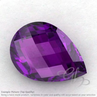 African Amethyst Pear Shape Calibrated Briolettes
