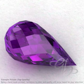 African Amethyst Drops Shape Calibrated Briolettes
