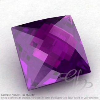 African Amethyst Square Shape Calibrated Briolettes