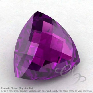 African Amethyst Trillion Shape Calibrated Briolettes