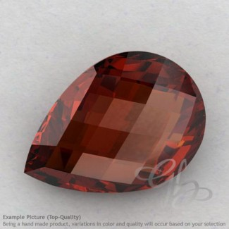 Garnet Pear Shape Calibrated Briolettes