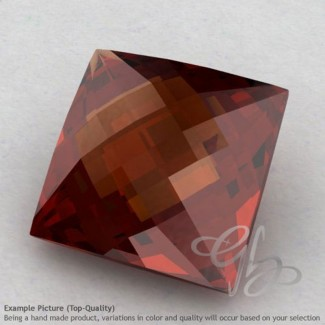 Garnet Square Shape Calibrated Briolettes