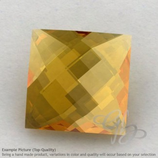 Citrine Square Shape Calibrated Briolettes