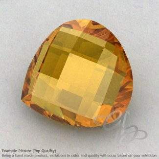 Citrine Heart Shape Calibrated Briolettes