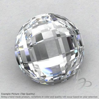 White Topaz Round Shape Calibrated Briolettes