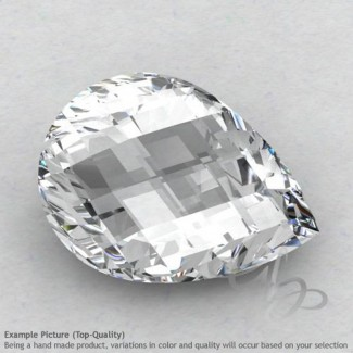White Topaz Pear Shape Calibrated Briolettes