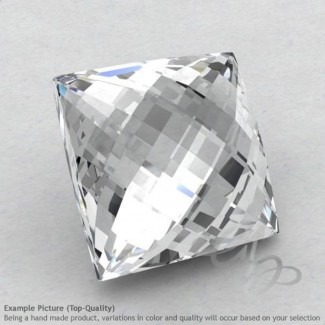 White Topaz Square Shape Calibrated Briolettes
