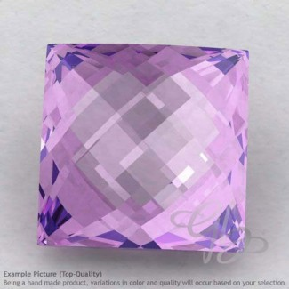 Brazilian Amethyst Square Shape Calibrated Briolettes