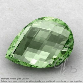 Green Amethyst Pear Shape Calibrated Briolettes