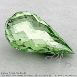 Green Amethyst Drops Shape Calibrated Briolettes