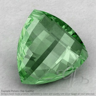 Green Amethyst Trillion Shape Calibrated Briolettes