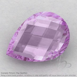 Pink Amethyst Pear Shape Calibrated Briolettes