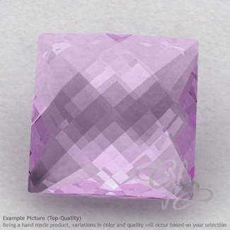 Pink Amethyst Square Shape Calibrated Briolettes