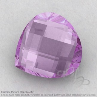 Pink Amethyst Heart Shape Calibrated Briolettes