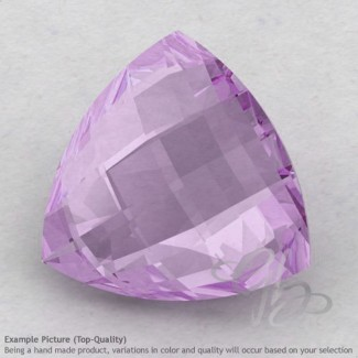 Pink Amethyst Trillion Shape Calibrated Briolettes