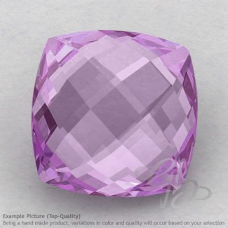 Pink Amethyst Square Cushion Shape Calibrated Briolettes